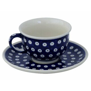 Coffee cup with curved out edge and saucer in the Decor 42