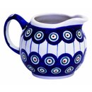 Spherical cream jug 0.25 liters with handle. Decor 8