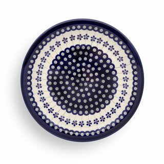 Flat dinner plate which also can used as pizza plate.  Decor 166a