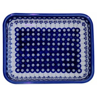 Baking Dish in rectangular format with nice Decor 166a