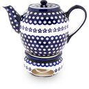 Large tea or coffee pot 1.5 l with warmer and a elongated...
