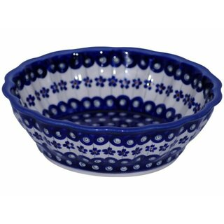 Decorative bowl with scalloped edge in the decor 166a