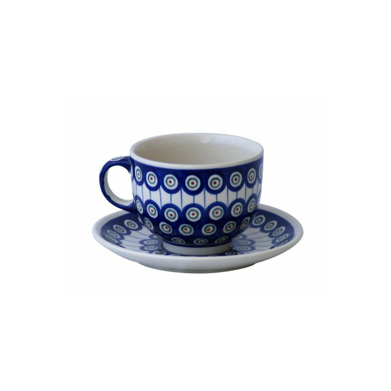 bunzlauer tasse mit untertasse milchkaffeetasse 0 5 ltr. Black Bedroom Furniture Sets. Home Design Ideas