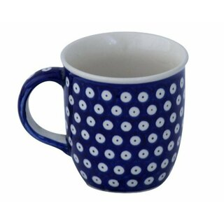 Bulgy Boleslawiec mug with round handles in the Decor 42