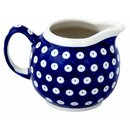 Spherical cream jug 0.25 liters with handle. Decor 42