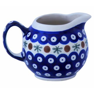 Spherical cream jug 0.25 liters with handle. Decor 41