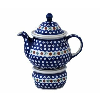Extra large tea or coffee pot 1.7 l and warmer to use with tealights. Decor 41