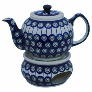 Traditional 1.0 liters teapot with a long spout and with warmer. Decor 8
