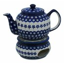 Traditional 1.0 liters teapot with a long spout and with...