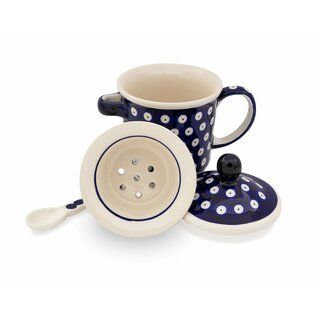 Tee mug with cover, tea strainer and spoon in the Decor 42