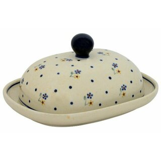 Modern oval butter dish in Decor 111