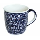 Bulgy Boleslawiec mug with round handles in the Decor 120
