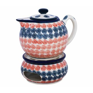 Modern 1.0 liters teapot with warmer in the Decor 943a