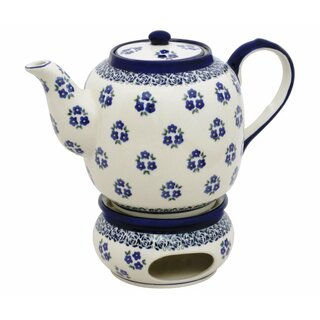 Tea- or coffeepot 1.5 l with warmer and a elongated spout in the Decor 224a