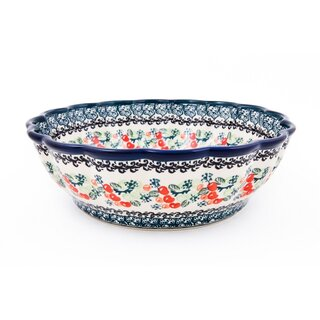 Decorative bowl with scalloped edge in the decor DU158