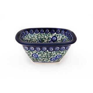 Square Boleslawiec Bowl. Decor 1073a
