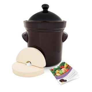 Fermenting Crock 25 litres with lid, weight stones and recipe booklet included